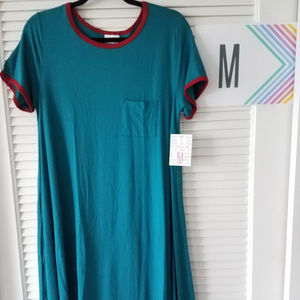 New LuLaRoe Carly Dress-Teal/Red